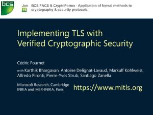 Implementing TLS with Verified Cryptographic Security