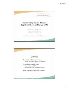 Implementing Trauma-Focused Cognitive Behavioral Therapy in MN