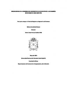 IMPLICACIONES EN LA SEGURIDAD DE SUMINISTRO DE LOS INCENTIVOS A LAS ENERGÍAS RENOVABLES EN GRAN BRETAÑA