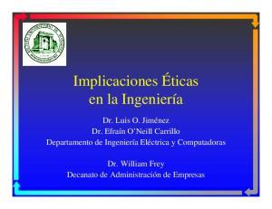 Implicaciones Éticas en la Ingeniería