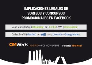 IMPLICACIONES LEGALES DE SORTEOS Y CONCURSOS PROMOCIONALES EN FACEBOOK