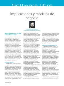 Implicaciones y modelos de negocio