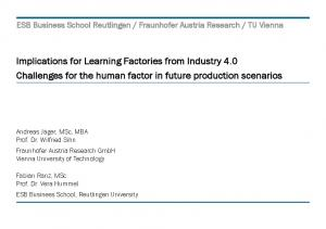 Implications for Learning Factories from Industry 4.0 Challenges for the human factor in future production scenarios