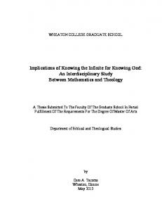 Implications of Knowing the Infinite for Knowing God: An Interdisciplinary Study Between Mathematics and Theology
