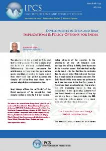 Implications & Policy Options for India