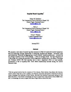 Implied Bond Liquidity *