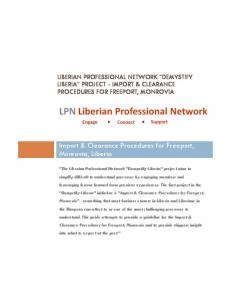 Import & Clearance Procedures for Freeport, Monrovia, Liberia