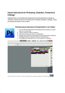 Import Instructions for Photoshop, Illustrator, Fireworks & InDesign