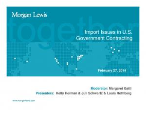 Import Issues in U.S. Government Contracting