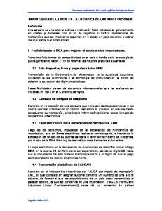 IMPORTANCIA DE LA DGA EN LA LOGISTICA DE LAS IMPORTACIONES