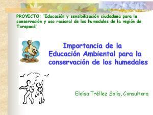 Importancia de la Educación Ambiental para la conservación de los humedales