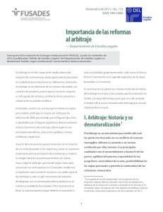 Importancia de las reformas al arbitraje