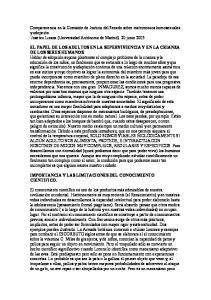 IMPORTANCIA Y LAS LIMITACIONES DEL CONOCIMIENTO CIENTIFICO