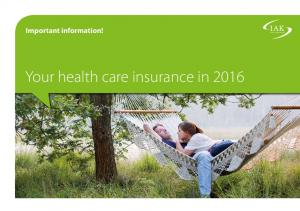 Important information! Your health care insurance in 2016