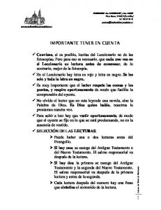 IMPORTANTE TENER EN CUENTA