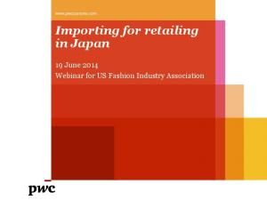Importing for retailing in Japan