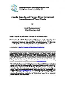 Imports, Exports and Foreign Direct Investment Interactions and Their Effects