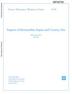 Imports of Intermediate Inputs and Country Size