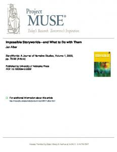 Impossible Storyworlds and What to Do with Them