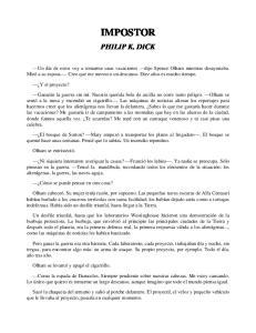 IMPOSTOR PHILIP K. DICK