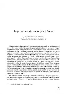 Impresiones de un viaje a China