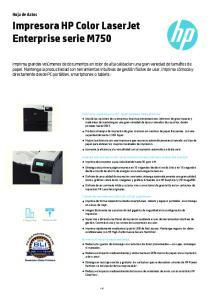 Impresora HP Color LaserJet Enterprise serie M750
