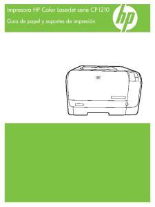 Impresora HP Color LaserJet serie CP1210