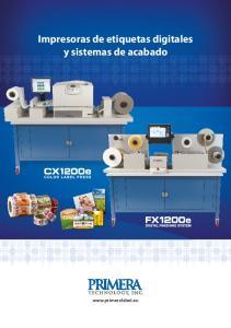 Impresoras de etiquetas digitales y sistemas de acabado