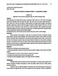 Impress of Mazzini on Mahatma Gandhi: A Comparative Analysis