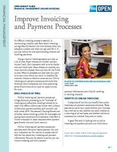 Improve Invoicing and Payment Processes