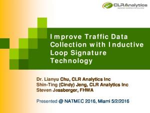 Improve Traffic Data Collection with Inductive Loop Signature Technology