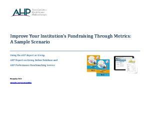 Improve Your Institution s Fundraising Through Metrics: A Sample Scenario