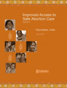 Improved Access to Safe Abortion Care (IASAC)