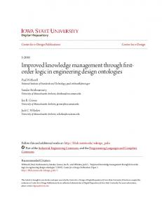 Improved knowledge management through firstorder logic in engineering design ontologies