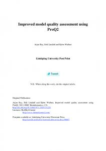 Improved model quality assessment using ProQ2