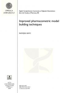 Improved pharmacometric model building techniques