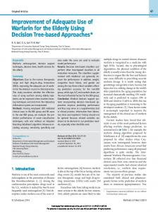 Improvement of Adequate Use of Warfarin for the Elderly Using Decision Tree-based Approaches*