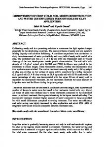 IMPROVEMENT OF CROP YIELD, SOIL MOISTURE DISTRIBUTION AND WATER USE EFFICIENCY IN SANDY SOILS BY CLAY APPLICATION