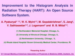 Improvement to the Histogram Analysis in Radiation Therapy (HART): An Open Source Software System