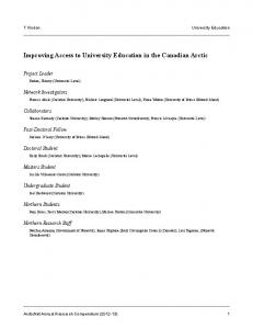 Improving Access to University Education in the Canadian Arctic