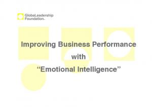 Improving Business Performance with Emotional Intelligence