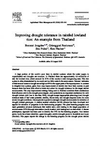 Improving drought tolerance in rainfed lowland rice: An example from Thailand