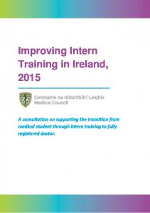 Improving Intern Training in Ireland, 2015