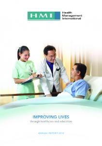 IMPROVING LIVES through healthcare and education