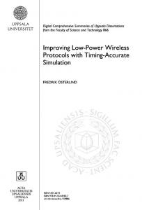 Improving Low-Power Wireless Protocols with Timing-Accurate Simulation