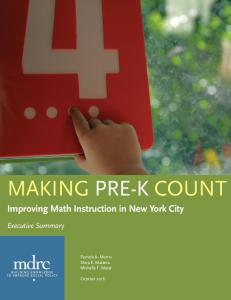 Improving Math Instruction in New York City