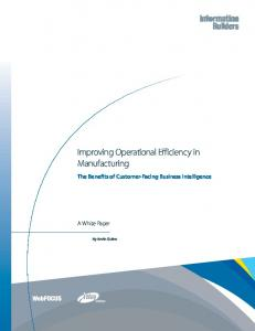 Improving Operational Efficiency in Manufacturing