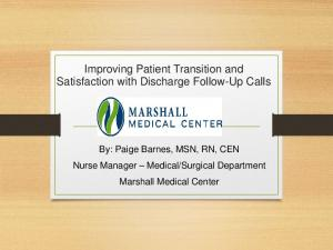 Improving Patient Transition and Satisfaction with Discharge Follow-Up Calls