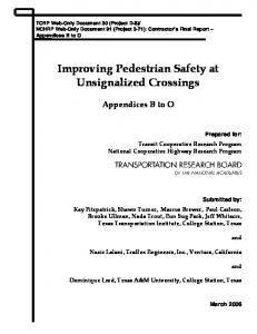 Improving Pedestrian Safety at Unsignalized Crossings