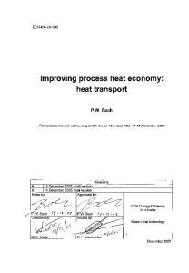 improving process heat economy: heat transport